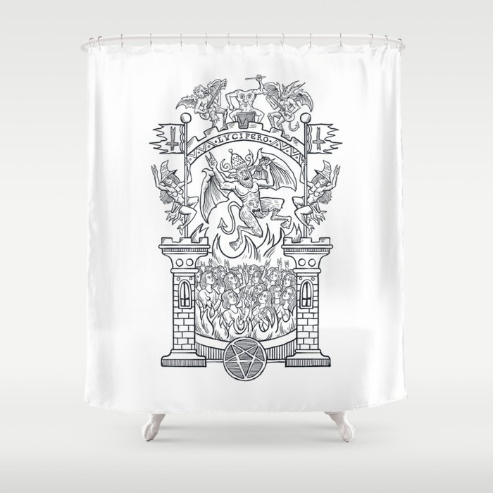 Satanic Rock Shower Curtain