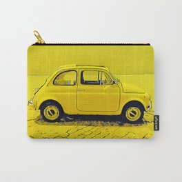 A classic, vintage 500 Italian car in sunshine yellow Carry-All Pouch