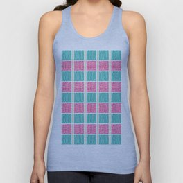 Blue and Pink Unisex Tank Top