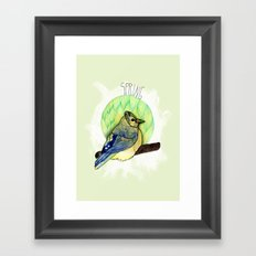 Spring birdy / Nr. 6 Framed Art Print