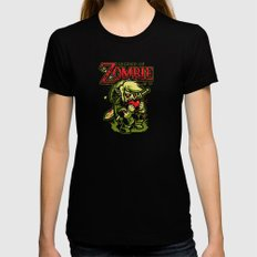 Legend of Zombie Black Womens Fitted Tee SMALL