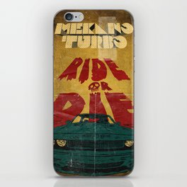 MEKANO TURBO/ride or die poster iPhone Skin