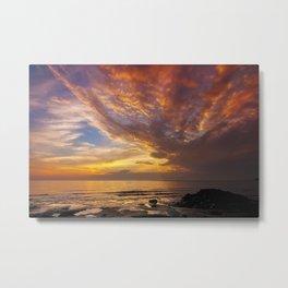 Lingering Sunset Metal Print