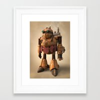 chrono trigger Framed Art Prints featuring Prometheus | Chrono Trigger by Geison Araujo