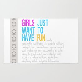 Girls Just Want To Have Fundamental Rights Rug
