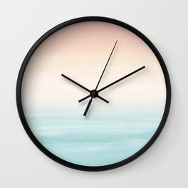 Touching Watercolor Abstract Beach Dream #3 #painting #decor #art #society6 Wall Clock