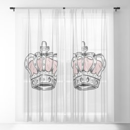 Crown - Pink Sheer Curtain