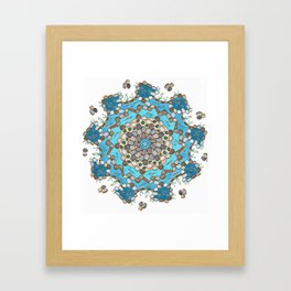 Koi Pond - Teal Version Framed Art Print