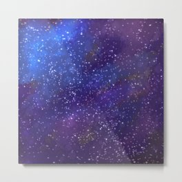 Starlit Space Metal Print