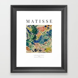 Landscape at Collioure - Henri Matisse - Exhibition Poster Framed Art Print
