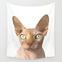 Sphynx cat portrait Wall Tapestry