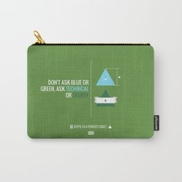 Perfect Logo Series (9 of 11) - Green Carry-All Pouch