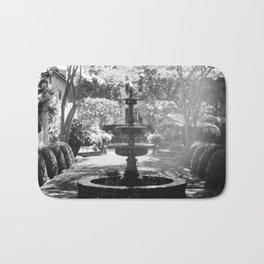 Charleston Black and White Fountain Bath Mat