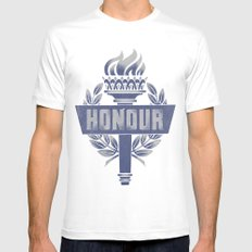 Honour SMALL White Mens Fitted Tee