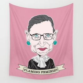 Ruth Bader Ginsburg The Notorious RBG Flaming Feminist Wall Tapestry