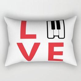 Love music #society6 #music #buyart #artprint Rectangular Pillow