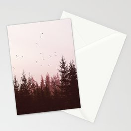 Pinky Sunset Forest Stationery Cards