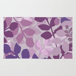 Ultra Violet Purple Lavender Leaves Pattern Rug