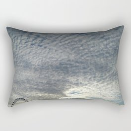 London Eye, Cloudy Sky Rectangular Pillow