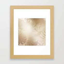 Metallic Gold Leaf Pattern Framed Art Print