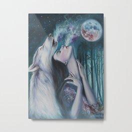 Moon Howl Metal Print