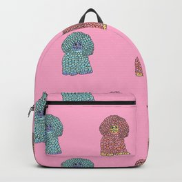 Woof - The Sheep Dog Pattern in Pink Backpack