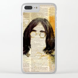 IMAGINE #art on dictionary page Clear iPhone Case