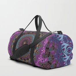 colorful fractal kaleidoscope Duffle Bag