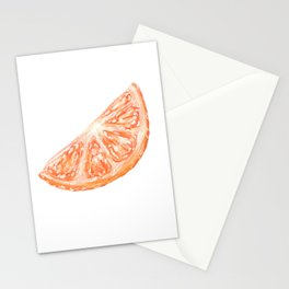 orange slice Stationery Cards