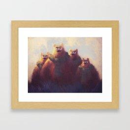 Grumpy Bear Family Framed Art Print