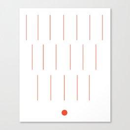 Sticks and cones Canvas Print