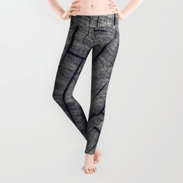 Vintage Wood Texture Leggings
