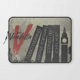V fo r vendetta, minimal movie poster, Natalie Portman, Stephen Fry, film based on the graphic n Laptop Sleeve