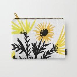 Minimalist Wildflower Sketch Carry-All Pouch