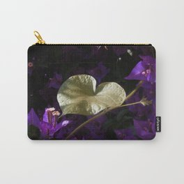 A Heart of Gold Leaf of Morning Glory Carry-All Pouch