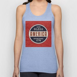 God Bless America Unisex Tank Top
