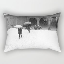 Winter Walk in New York Rectangular Pillow