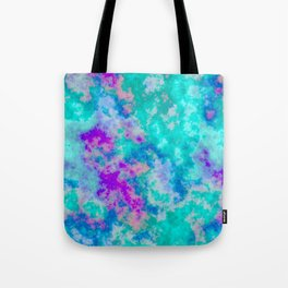 Turquoise and purple cloud art Tote Bag
