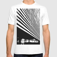 Stripes Mens Fitted Tee MEDIUM White