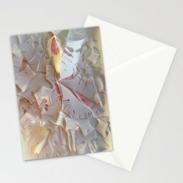 The Snowflake- Abstract Texture Collage  Stationery Cards