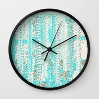 knitting Wall Clocks featuring Feminine Knitting by Jessielee