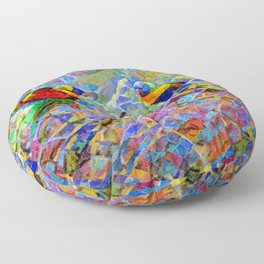 Rainbow Lorikeet Mosaic Floor Pillow