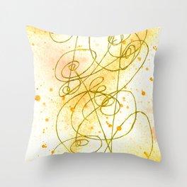 Golden Dream Throw Pillow