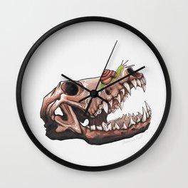 Coyote Skull Plus Snail Trail Wall Clock