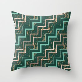 Marbling zigzag Throw Pillow