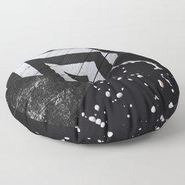Seasons Of Black And White Floor Pillow