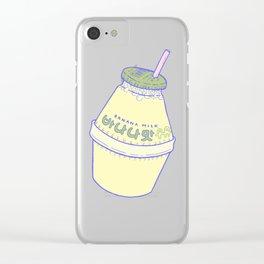 Banana Milk Clear iPhone Case
