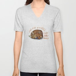 Just a girl who loves cute baby deers Unisex V-Neck