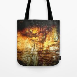 Reflections inside a Dolomite Cave Tote Bag
