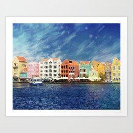 Willemstad, Curaçao Art Print